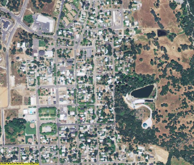 Tuolumne County, CA aerial photography detail