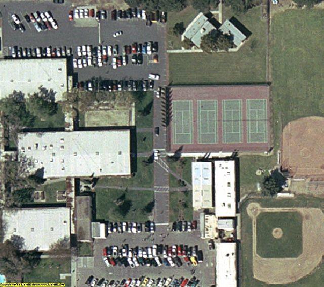 Modesto, CA aerial photography