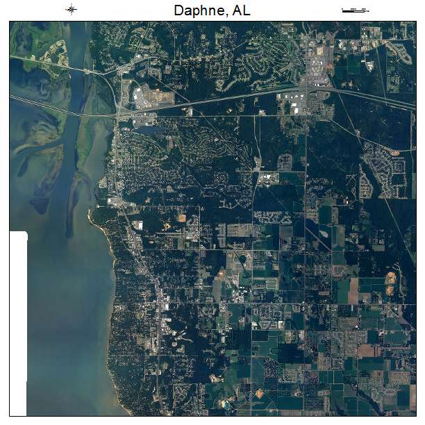 Daphne Alabama: Aerial Photography Map Of Daphne, AL Alabama