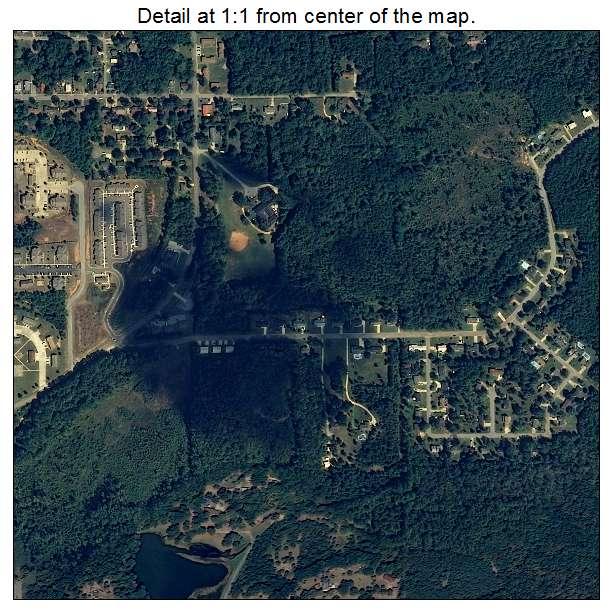 aerial photography map of jacksonville  al alabama