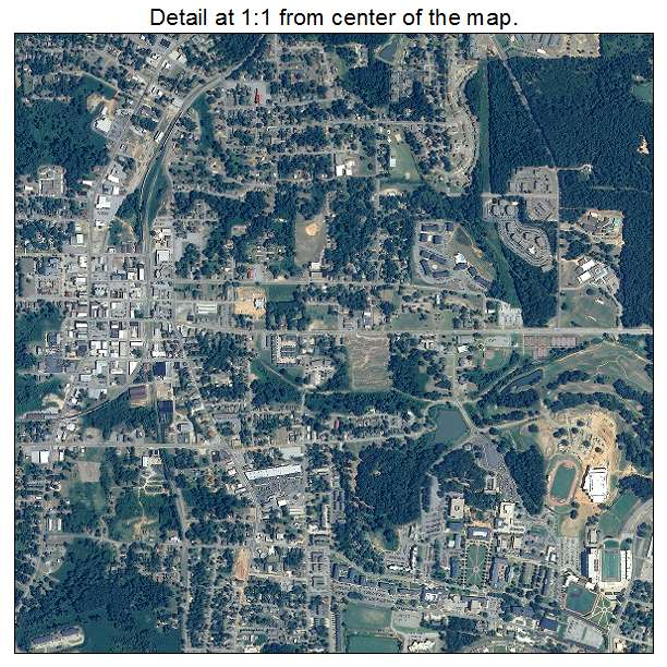 Aerial Photography Map Of Troy AL Alabama