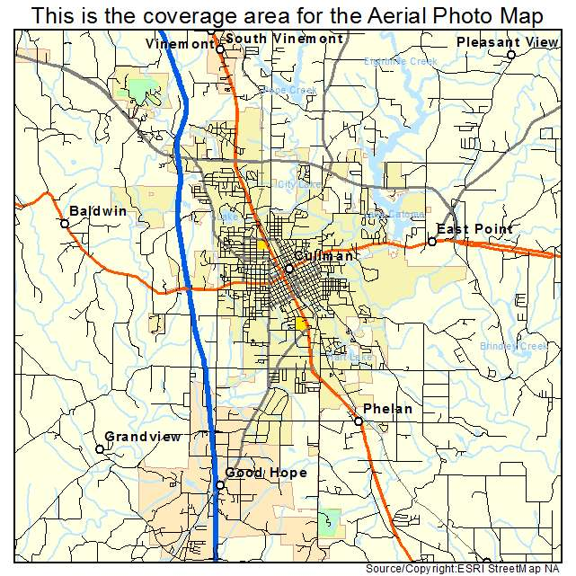 Cullman, AL Alabama Aerial Photography Map 2015