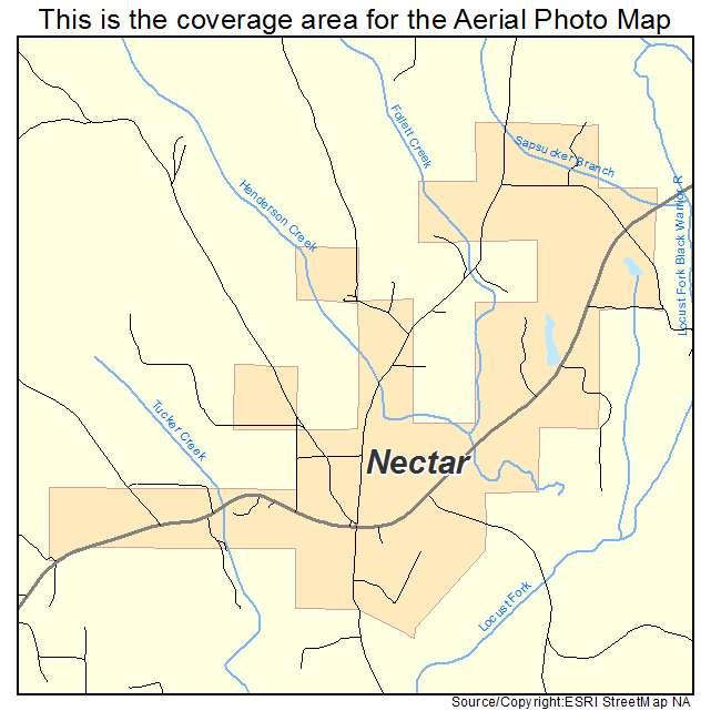 Nectar, AL location map
