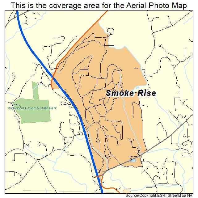 Aerial Photography Map Of Smoke Rise Al Alabama
