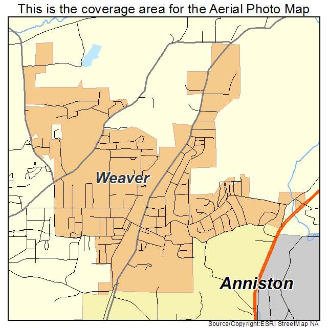 Weaver, AL location map