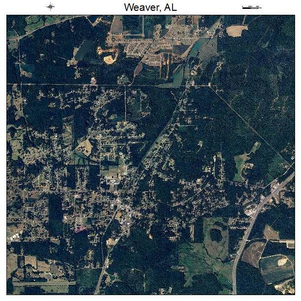 Weaver, AL air photo map