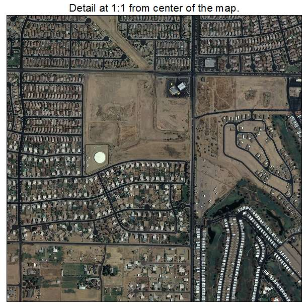 El Mirage, Arizona aerial imagery detail
