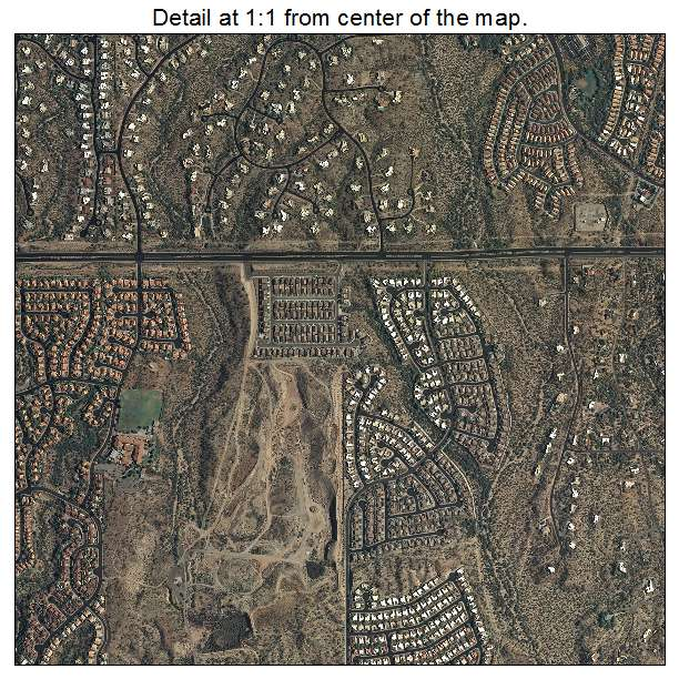 Oro Valley, Arizona aerial imagery detail