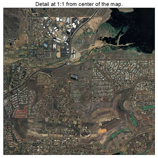 Prescott, Arizona aerial imagery detail