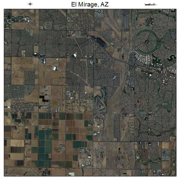 El Mirage, AZ air photo map