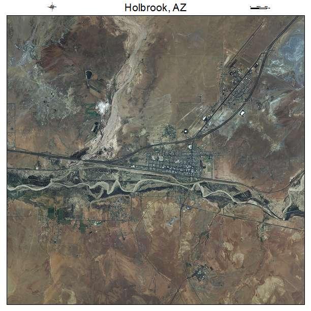 Aerial Photography Map Of Holbrook AZ Arizona