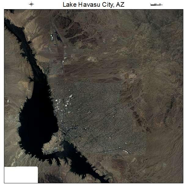 Lake Havasu City, AZ air photo map