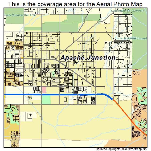 Apache Junction Arizona Map Aerial Photography Map of Apache Junction, AZ Arizona