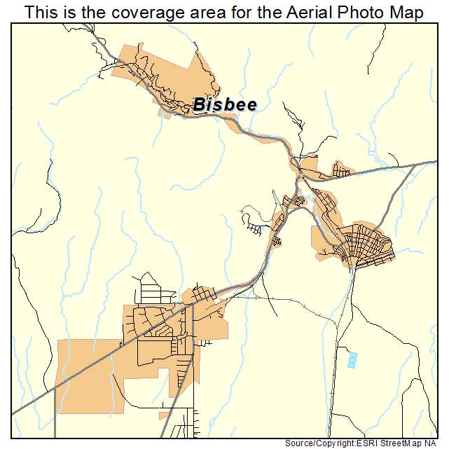 Map Of Bisbee Az Streets Images