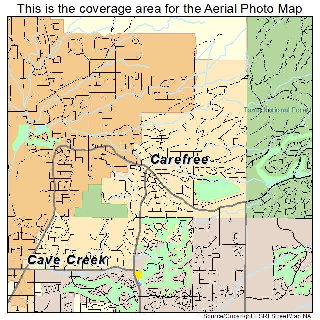 Aerial Photography Map of Carefree, AZ Arizona