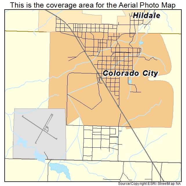 Aerial Photography Map of Colorado City, AZ Arizona