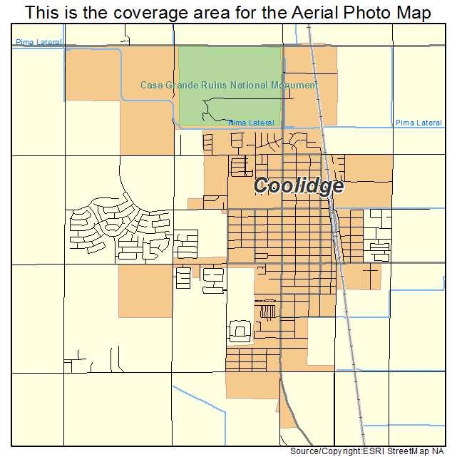 Aerial Photography Map of Coolidge, AZ Arizona