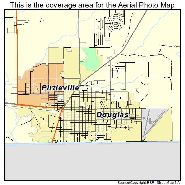 Aerial Photography Map Of Douglas AZ Arizona