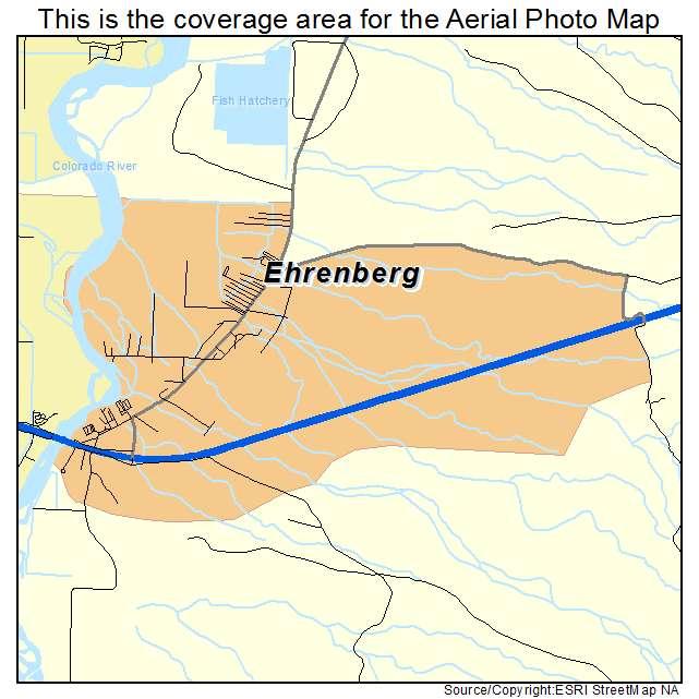 Aerial Photography Map Of Ehrenberg Az Arizona