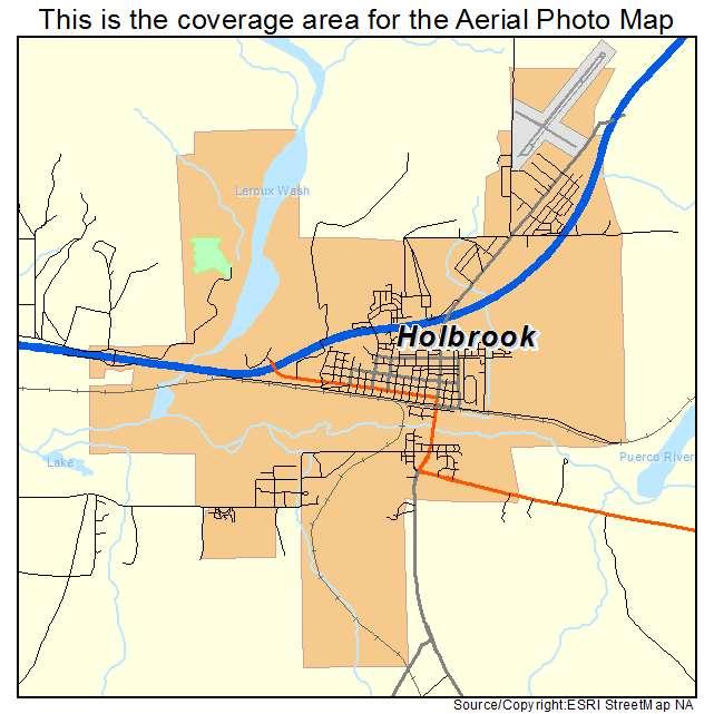 Aerial photography map of holbrook az arizona holbrook az location map sciox Images
