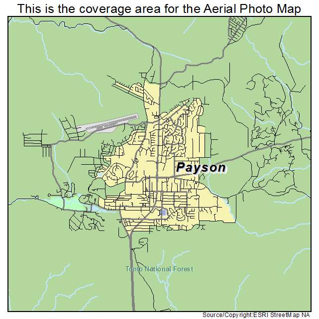 Aerial photography map of payson az arizona payson az location map publicscrutiny Images