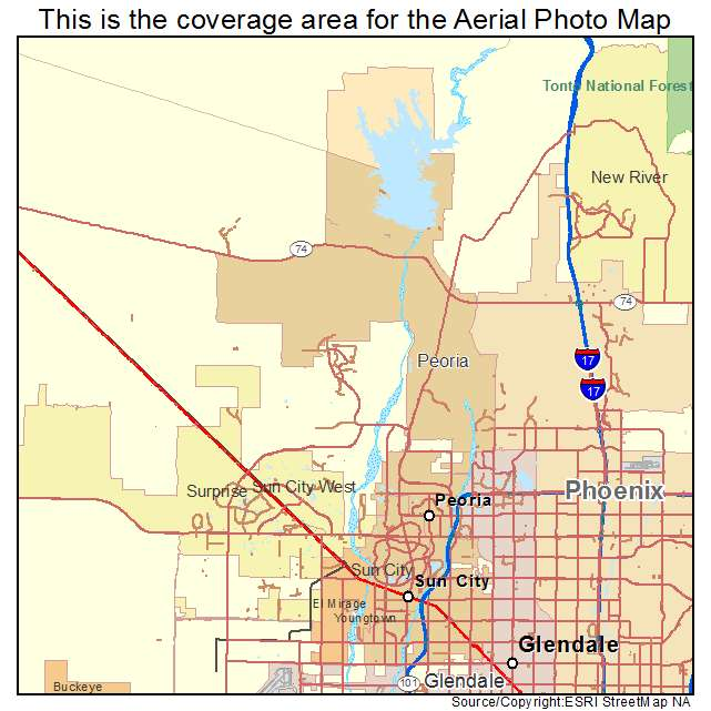Peoria, AZ location map