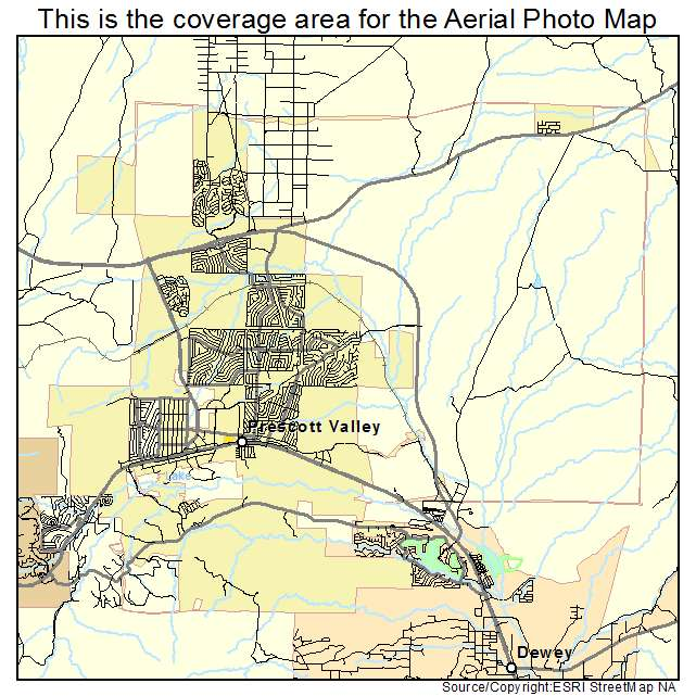 Map Of Arizona Prescott.Prescott Valley Az Arizona Aerial Photography Map 2015