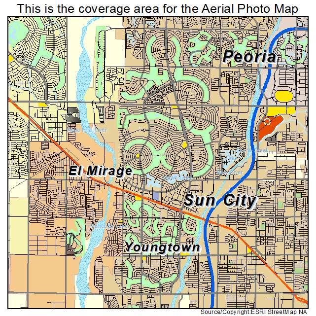 Aerial photography map of sun city az arizona sun city az location map publicscrutiny Gallery