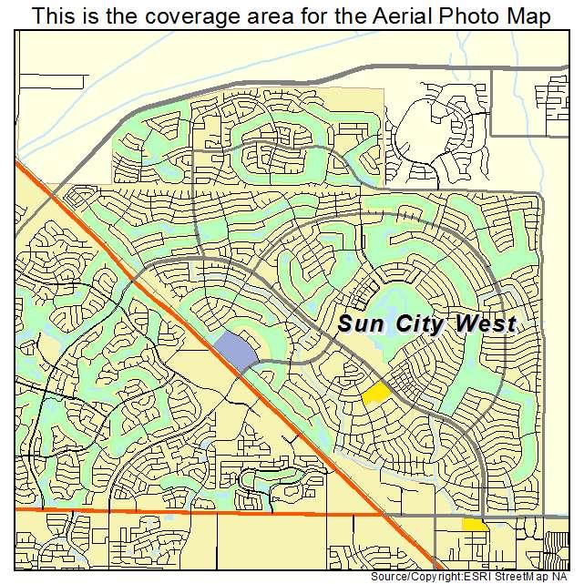 Aerial photography map of sun city west az arizona sun city west az location map publicscrutiny Gallery