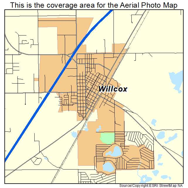 Aerial Photography Map Of Willcox AZ Arizona