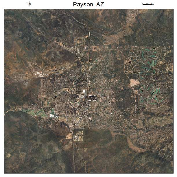 Aerial photography map of payson az arizona payson az air photo map publicscrutiny Images
