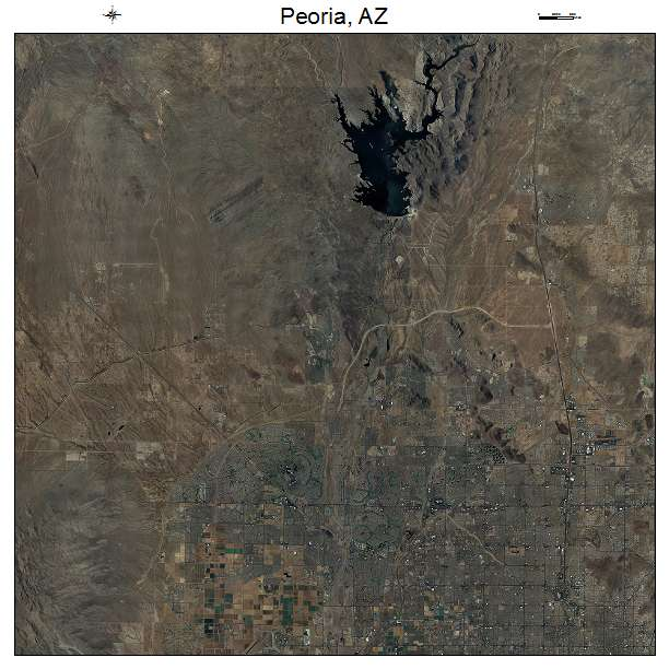 Peoria, AZ air photo map