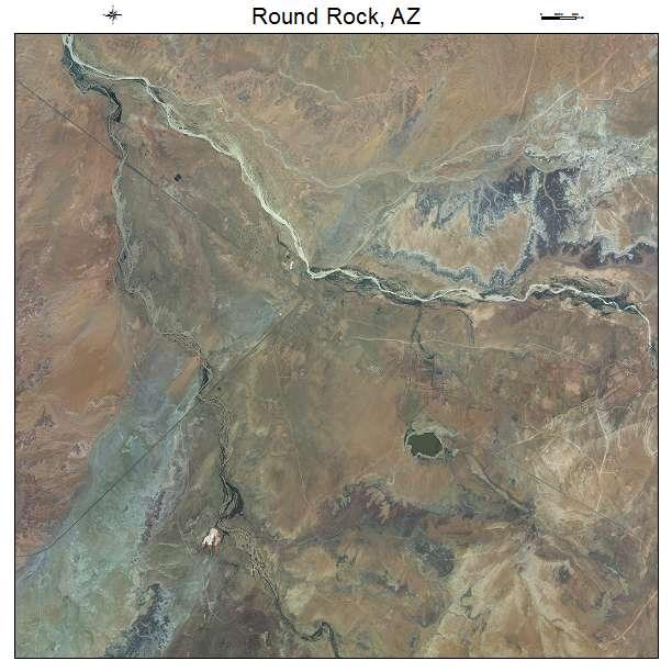 Round Rock, AZ air photo map