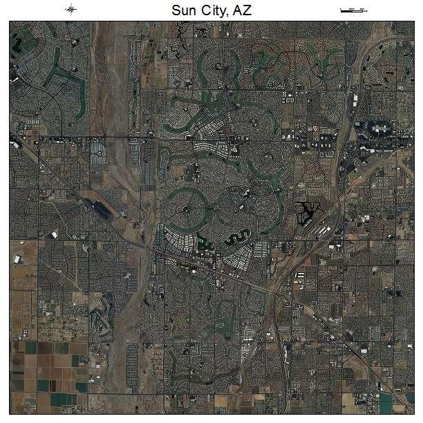 Aerial photography map of sun city az arizona sun city az air photo map publicscrutiny Gallery