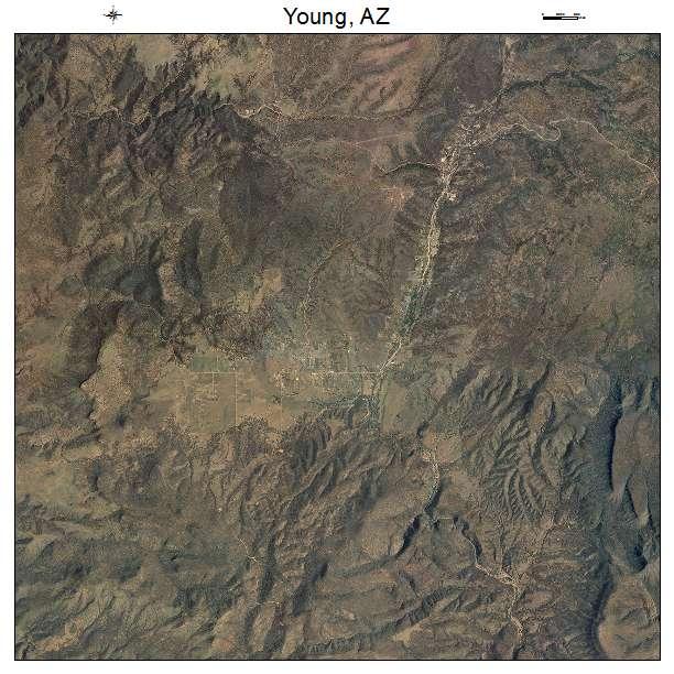 Map Of Young Arizona.Young Az Arizona Aerial Photography Map 2015
