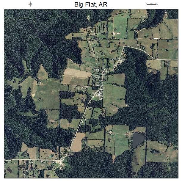 Big Flat, AR air photo map