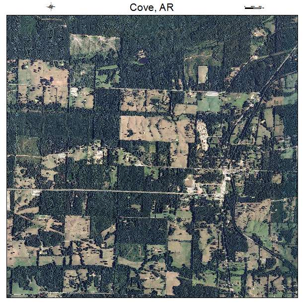 Cove, AR air photo map