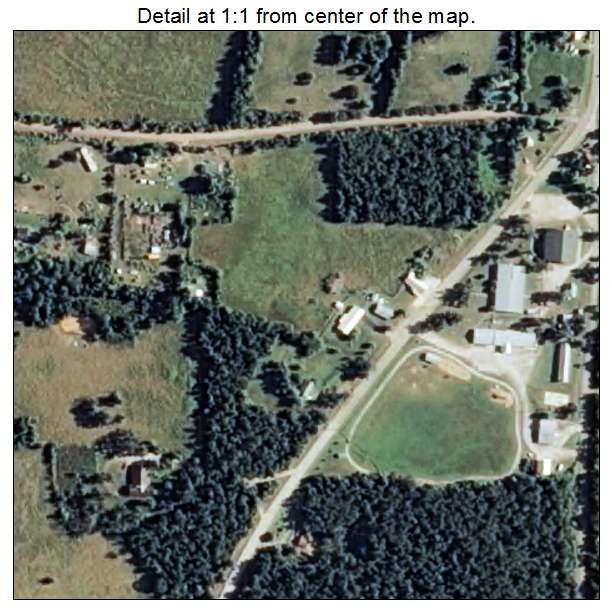 Big Flat, Arkansas aerial imagery detail