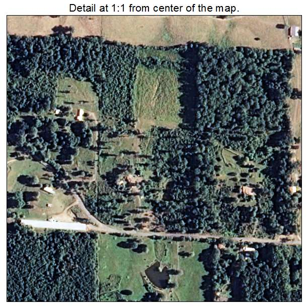 Cove, Arkansas aerial imagery detail