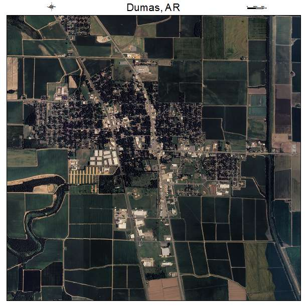 Dumas, AR air photo map