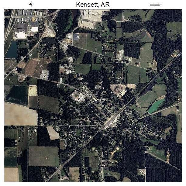 Kensett, AR air photo map