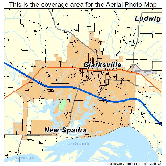 Aerial Photography Map of Clarksville, AR Arkansas