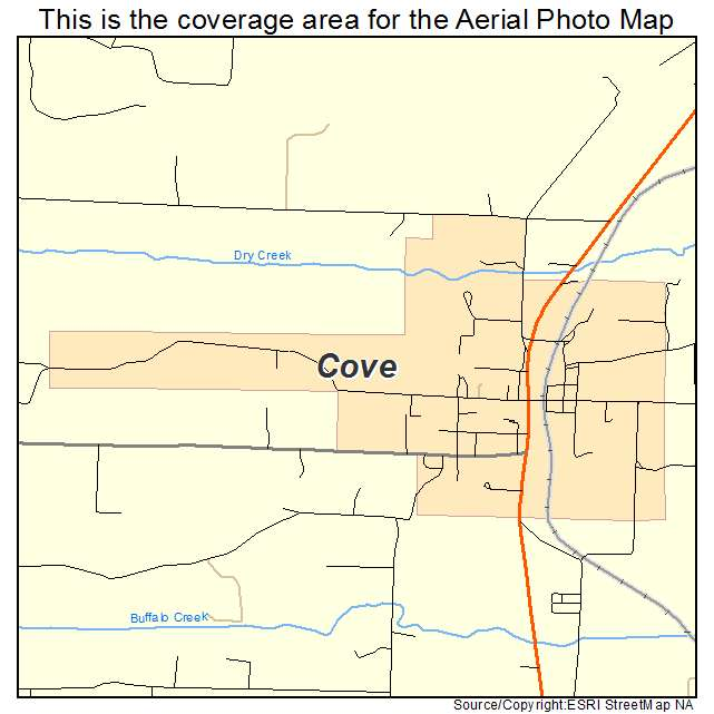 Cove, AR location map