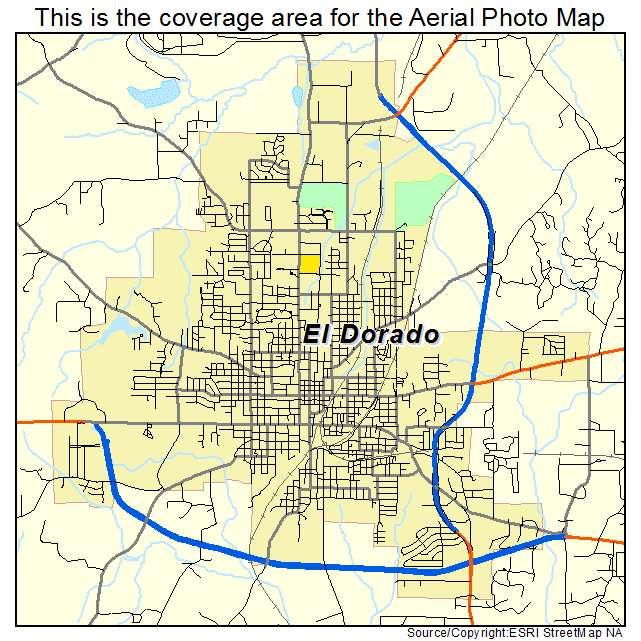 Aerial Photography Map Of El Dorado Ar Arkansas