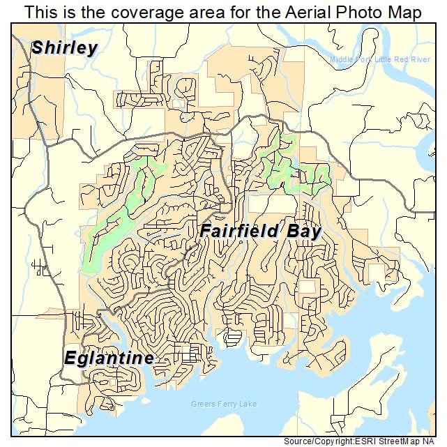Aerial Photography Map Of Fairfield Bay Ar Arkansas