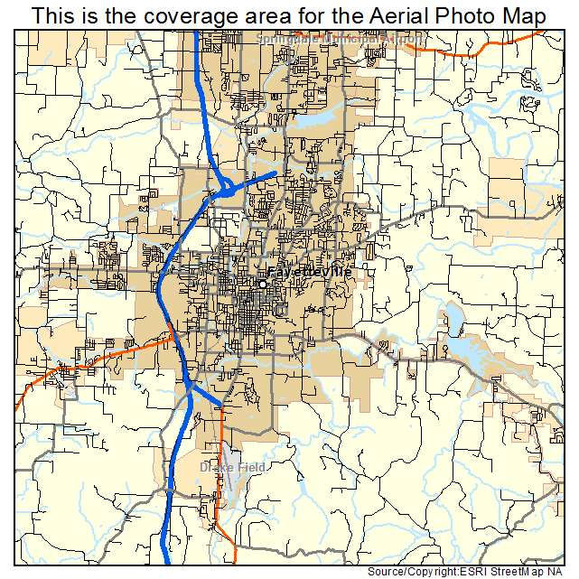 Aerial Photography Map Of Fayetteville Ar Arkansas