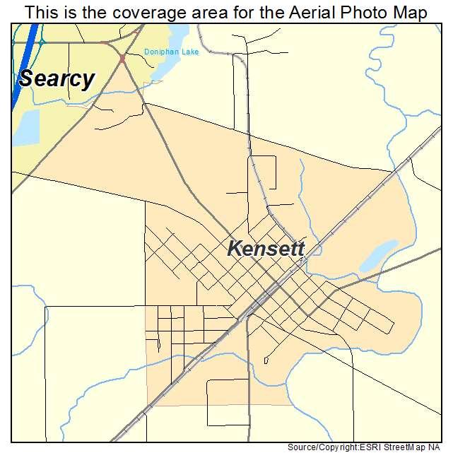 Kensett, AR location map