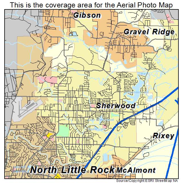 Aerial Photography Map Of Sherwood Ar Arkansas