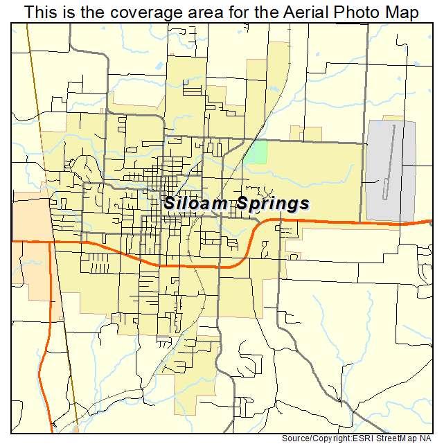 map siloam springs arkansas Aerial Photography Map Of Siloam Springs Ar Arkansas map siloam springs arkansas