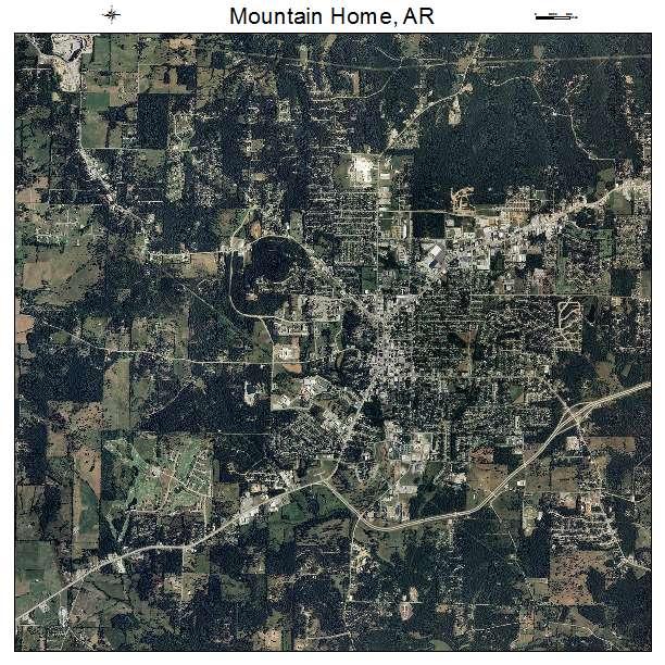 Aerial Photography Map of Mountain Home AR Arkansas